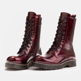 Marco Shoes Korkeat nilkkurit, läpikuultavaan pohjaan sidotut saappaat punainen 4