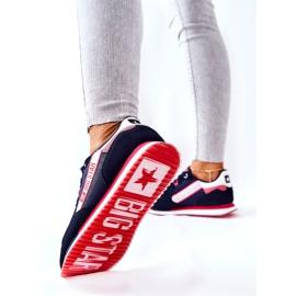 Nahkaiset urheilukengät Big Star II274270 Laivaston sininen valkoinen punainen laivastonsininen 4