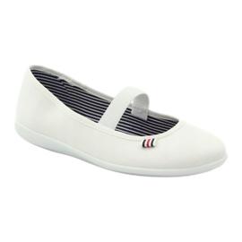 Naisten valkoiset lenkkarit Befado 493Q003 valkoiset valkoinen punainen monivärinen 1