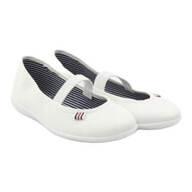 Naisten valkoiset lenkkarit Befado 493Q003 valkoiset valkoinen punainen monivärinen 4